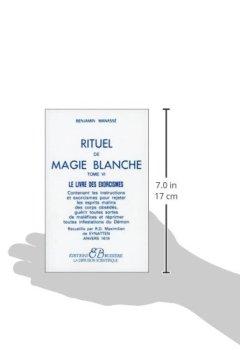 Livres Couvertures de Rituel de magie blanche, tome 6 : Le Livre des exorcismes