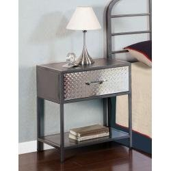 Image of Monster Kids Nightstand with Chrome Plated Drawer Front in Charcoal Finish (500-029)