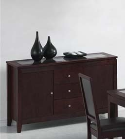Image of Server Sideboard Cappuccino Finish (VF_AM8153)