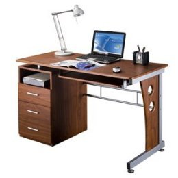 Picture of Comfortable Mad Tech 30x22.75x47.25 Mahogany Mdf Panel & Steel Frame Computer Office Desk Table (B004W0MI7C) (Computer Desks)