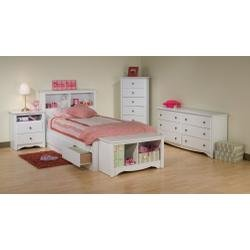 Image of Kids Bedroom Furniture Set 2 in White - Monterey Collection - Prepac Furniture - MTR-KBSET-2 (MTR-KBSET-2)