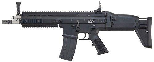WE SCAR-L Open Bolt ガスブローバック Black Ver. WEGB10BK