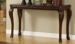 Image of 1-pc Console Table in Dark Cherry Finish PDS F60229 (B004RPQU5S)
