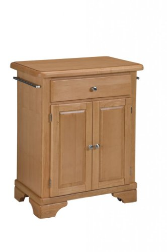 Image of Kitchen Cart with Wood Top in Maple Finish (VF_HY-9003-0091)