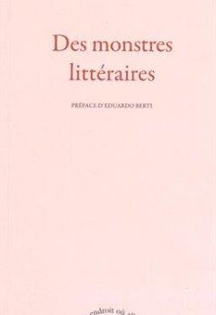 Livres Couvertures de Des monstres littéraires