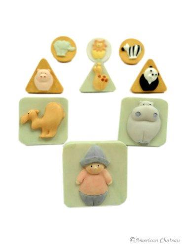 Image of Set of 9 Noah's Ark Kids Room Dresser Cabinet Knobs (B005NVRARM)