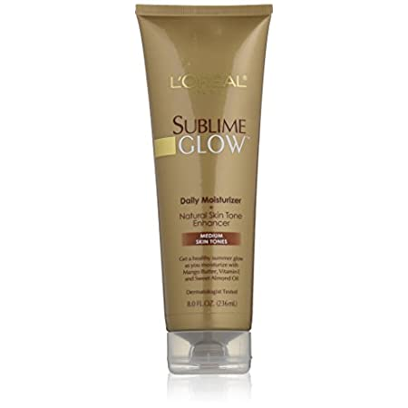 Get a beautiful glow of summer all year round with Sublime Glow Daily Body Moisturizer + Natural Skin Tone Enhancer for Medium Skin Tones. Perfect for brunettes or anyone who tans easily in the sun. This daily moisturizer and natural skin-tone enhanc...
