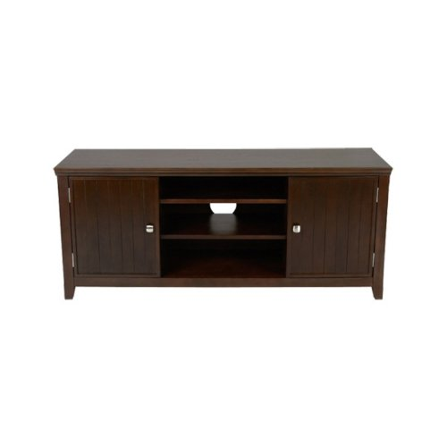 Image of Simpli Home AXWELL3-005 Acadian Collection 54-Inch Tv Stand, Rich Tobacco Brown, 1-Pack (AXWELL3-005)