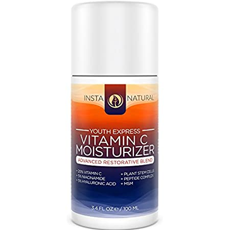 InstaNatural's Youth Express Vitamin C Moisturizer is an advanced restorative blend that contains powerful ingredients to deliver results:  - 20% Vitamin C: Protects against external aggressors that cause damage  - Hyaluronic Acid: Deeply moisturizes...