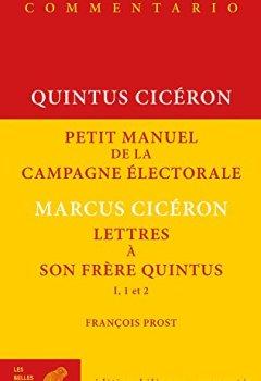 Livres Couvertures de Petit manuel de la campagne électorale et Lettres à son frère Quintus (I, 1 et 2)