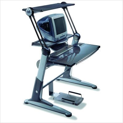 Picture of Comfortable Imax Computer Workstation (Graphite) (54.25