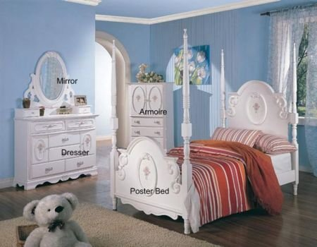 Image of Sariah 7-Piece Kids Poster Bedroom Set (B005LWPIHC)