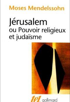 Livres Couvertures de Jérusalem ou Pouvoir religieux et judaïsme