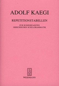 Buchdeckel von Repetitionstabellen zur kurzgefassten Griechischen Grammatik