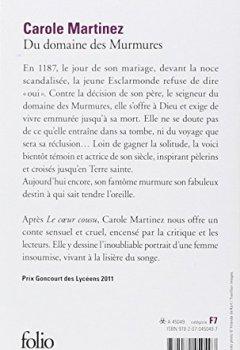 Livres Couvertures de Du domaine des murmures - Prix Goncourt des lycéens 2011