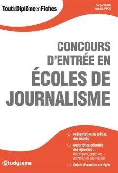 Livres Couvertures de Concours d'entrée en écoles de journalisme