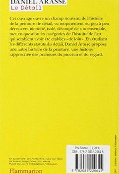 Livres Couvertures de Le Détail : Pour une histoire rapprochée de la peinture