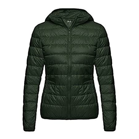 The Ultralight Down Jacket, our lightest-weight down jacket, uses 90% White Duck Down in a slim silhouette for thermal efficiency. Its superlight 100% nylon shell,you can wear it under another coat.Lightweight - Great for travelling, easy to pack awa...
