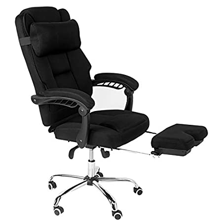 This Ergonomic mesh office chair has been designed to prevent body heat and moisture build up. The breathable mesh fabric seat provides ample padding for all day comfort. Multifunction mechanism allows back angle adjustment, tilt adjustable and posi...