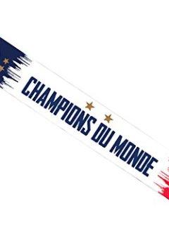 Livres Couvertures de Equipe de FRANCE de football Echarpe FFF - Champion du Monde 2018 - Collection Officielle Taille 140 cm