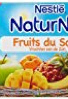 Livres Couvertures de Nestlé Bébé Naturnes Fruits du Soleil Compote dès 8 mois 4 x 130g - Lot de 3