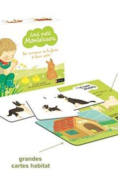 Livres Couvertures de Tout-petit Montessori - cartes classifiées des animaux de la ferme et leurs petits - dès 15 mois