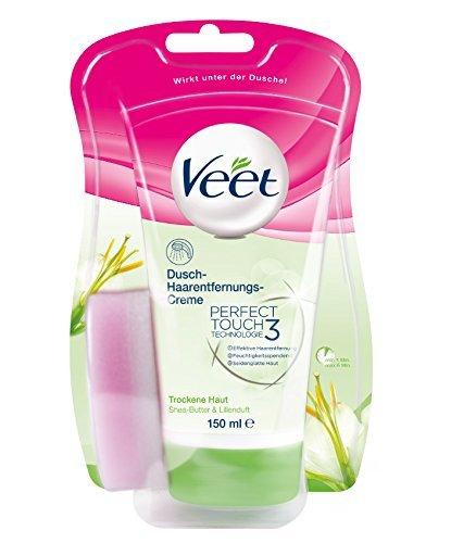 Veet Dusch-Haarentfernungs-Creme für trockene Haut mit Shea-Butter & Lilienduft