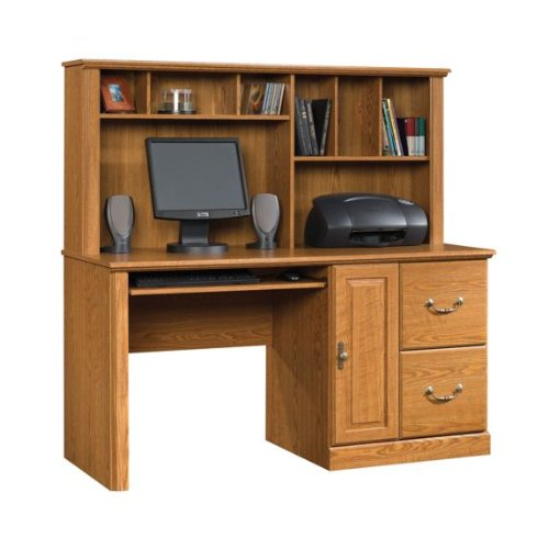 Picture of Comfortable Sauder Orchard Hills Large Computer Desk with Hutch (B003BNS8LG) (Computer Desks)