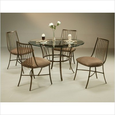 Image of Victoria Glass Top Dining Table in Legacy Copper (VO-510-Base / 4819)