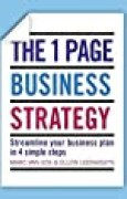 The One Page Business Strategy: Streamline Your Business Plan in Four Simple Steps by Marc Van Eck (2014-03-20)