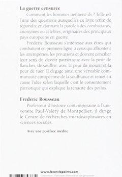 Livres Couvertures de La guerre censurée : Une histoire des combattants européens de 14-18