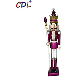 "CDL 48""/ 4feet wooden Purple glittering Nutcracker for Wedding/Xmas Decoration K32"