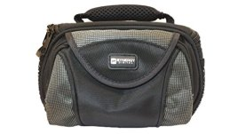 Canon-VIXIA-HF-R600-Camcorder-Case-Camcorder-and-Digital-Camera-Case-Carry-Handle-Adjustable-Shoulder-Strap-Black-Grey-Replacement-by-Synergy