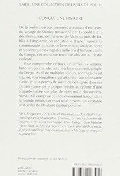 Livres Couvertures de Congo. une Histoire (Babel)