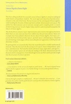 Livres Couvertures de Linear Algebra Done Right