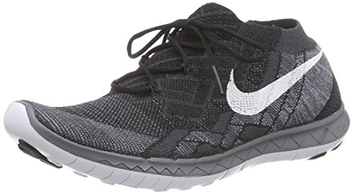 Nike Free 3.0 Flyknit, Damen Laufschuhe, Schwarz (Black/White-Anthracite-Dark Grey), 38.5 EU