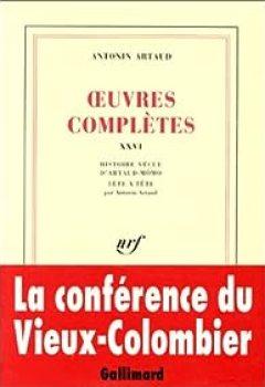 Livres Couvertures de Oeuvres complète, tome XXVI : Histoire vécue d'Artaud-Mômo. Tête à tête