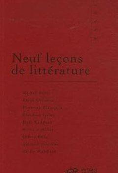 Livres Couvertures de Neuf leçons de littérature