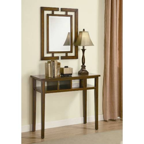 Image of Coaster Furniture 900156 3 Pieces Transitional Console Table Set in Brown 900156 (B008A1IGG6)