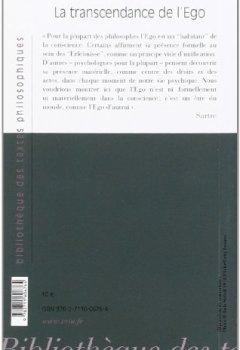 Livres Couvertures de La Transcendance de l'égo