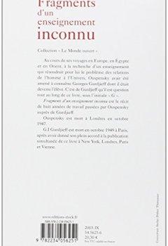 Livres Couvertures de Fragments d'un enseignement inconnu