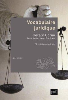 Livres Couvertures de Vocabulaire juridique
