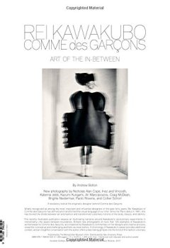Livres Couvertures de Rei Kawakubo/Comme Des Garcons: Art of the In-Between