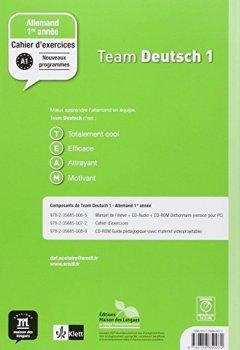 Livres Couvertures de Allemand 1re année Team Deutsch 1 : Cahier d'exercices