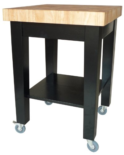 Image of International Concepts Kitchen Island - Black Base (WC19-2424)