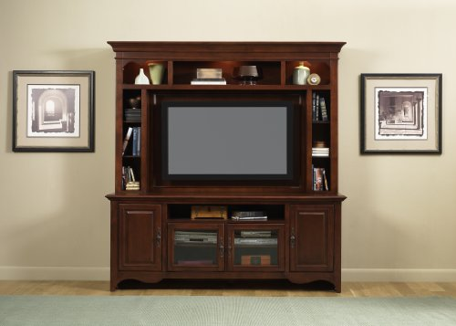 Image of LIBERTY NEW GENERATION ENTERTAINMENT CENTER TV STAND MOUNTABLE HUTCH MERLOT NEW (840-ENT)