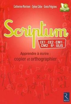 Livres Couvertures de Scriptum - CE1-6ème et ULIS