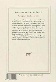 Livres Couvertures de Voyage au bout de la nuit