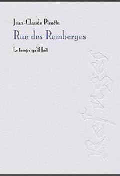 Livres Couvertures de Rue des Remberges