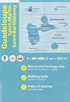 Livres Couvertures de Guadeloupe/ St-Martin/ St-Barthelemy : 1/80,000